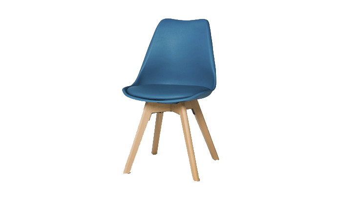 Set of 4 Blue Dining Chairs