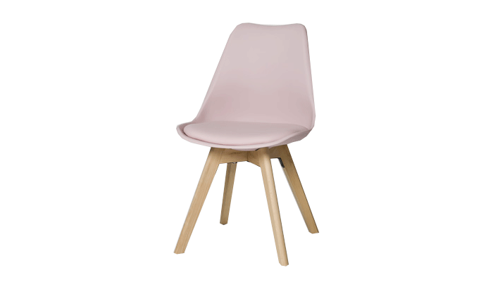 Set of 4 Pink Dining Chairs
