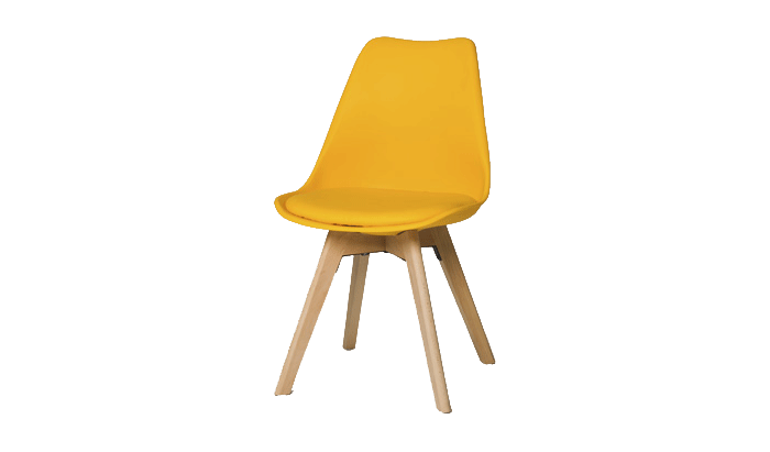 Set of 4 Yellow Dining Chairs