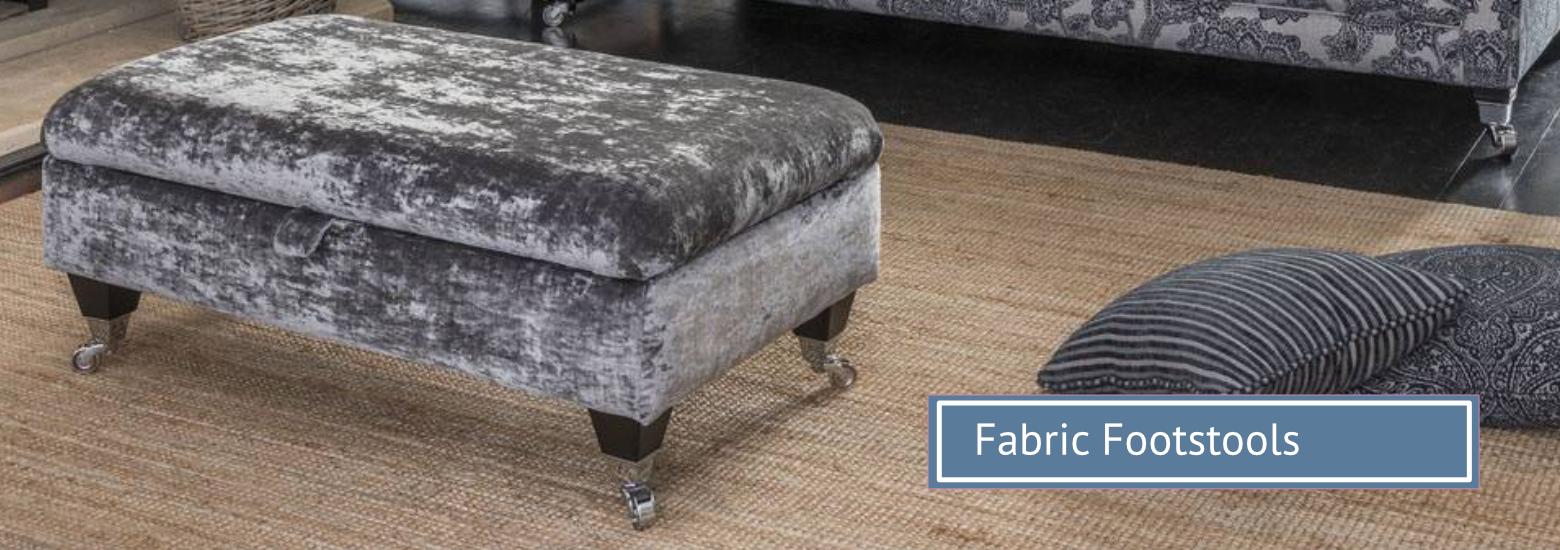 Group hero fabric footstools
