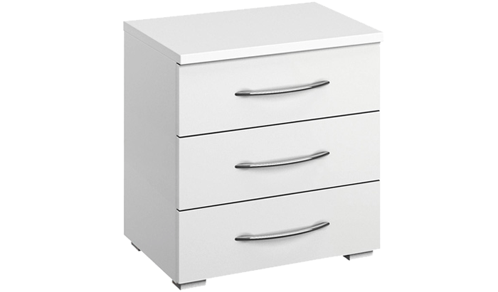 3 Drawer Wide Bedside