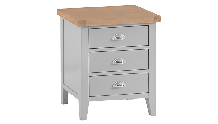 3 Drawer Extra Large Bedside Chest