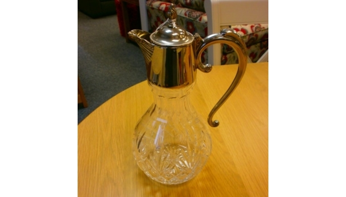 Cut glass jug