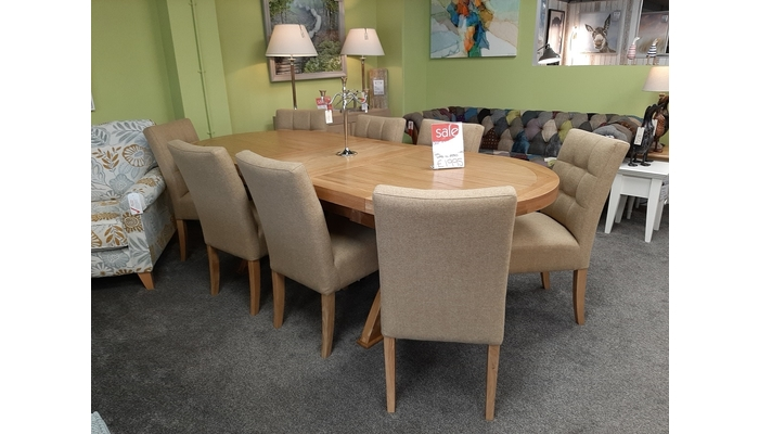 Double Extending  Dining Table and Chairs