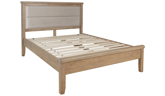 Double Bedstead - Fabric Head / Low Foot End