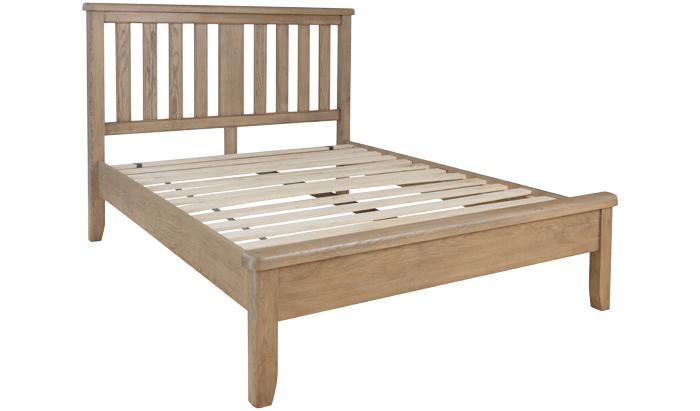 Double Bedstead - Wood Head / Low Foot End