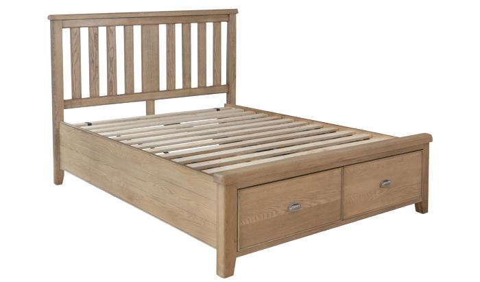 Super Kingsize Bedstead - Wood Head / Drawer End