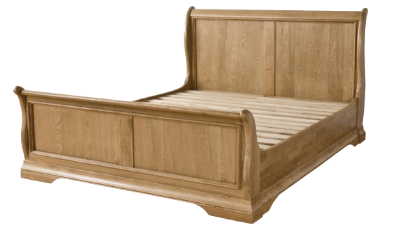 4ft6  High Foot End Sleigh Bed