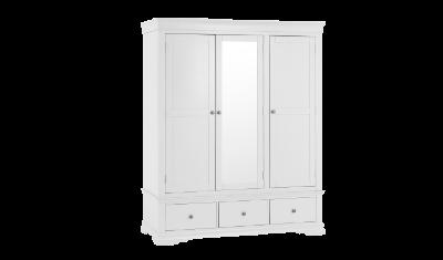 SW TWR W 3 Door Combination Wardrobe